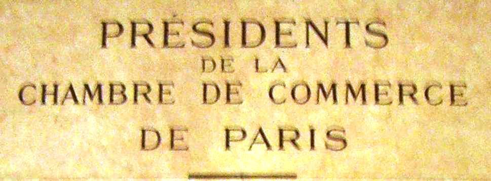 Derode President Chambre Commerce Paris