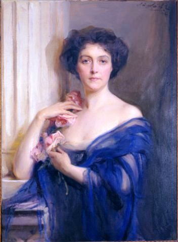 Portrait of Countess Dénes Széchényi, (born as Émilie de Riquet, comtesse de Caraman-Chimay), 1912 Philip Alexius de László